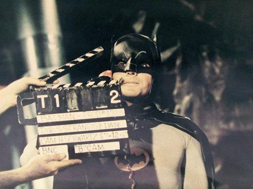 Adam West as Batman About to Film a Scene
