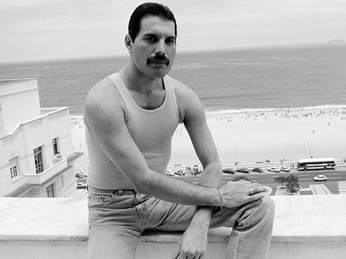 Freddie Mercury Overlooking the Beach