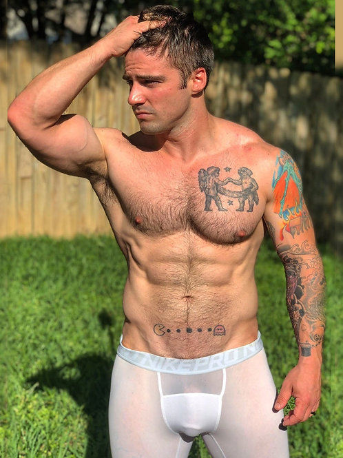 Hot Man in his Backyard