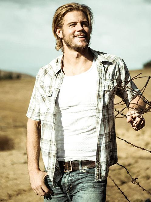 Trevor Donovan as a Cowboy