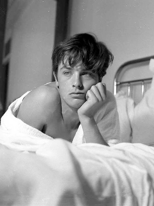 Young Alain Delon in 1959