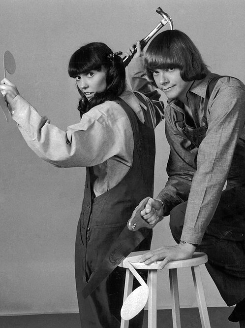 Karen & Richard Carpenter Acting Funny with a Saw & Hammer in 1971