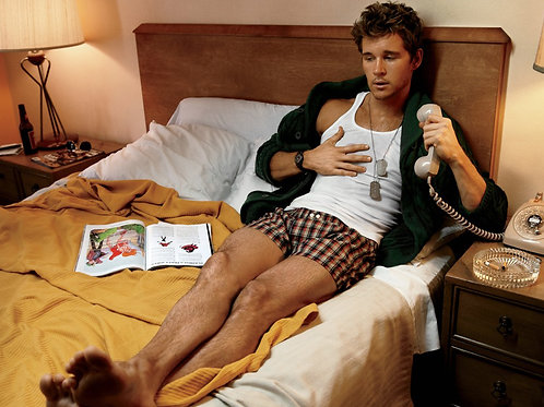 Ryan Kwanten on a Hotel Bed