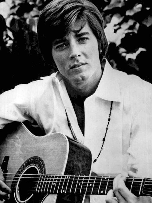Bobby Sherman Playing his Guitar in 1969