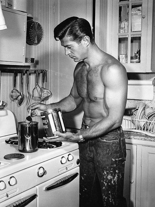 George Nader Preparing the Coffee Pot