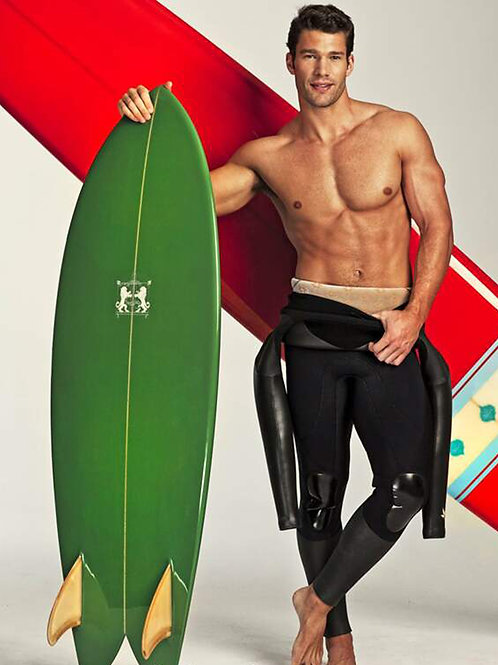 Aaron O'Connell with Surfboards