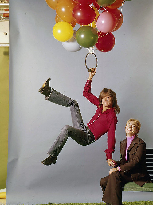 Shirley Jones Holding David Cassidy as he Floats Away in 1974