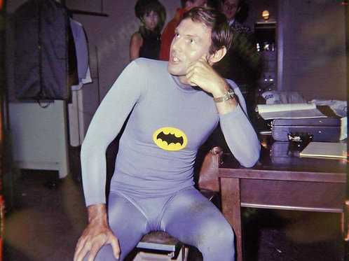 Adam West as Batman in his Bat Underwear