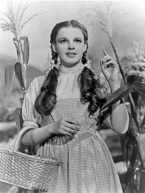 Judy Garland as Dorothy in a Cornfield in The Wizard of Oz
