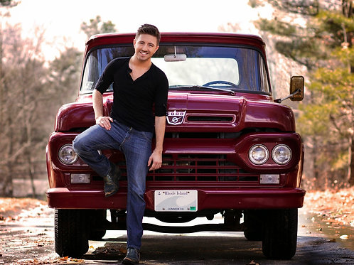 Billy Gilman by a Ford Truck