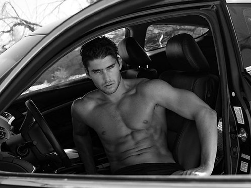 Charlie Matthews Sitting in his Car