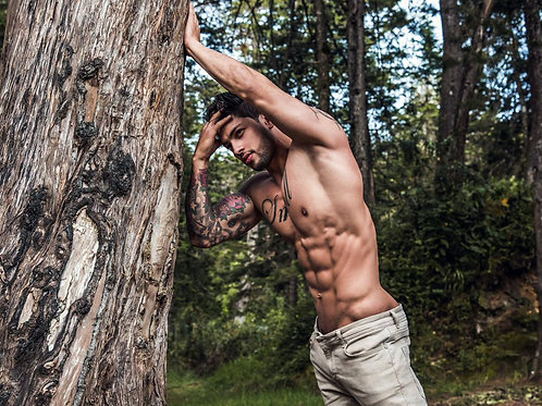 Nick Thompson Leaning on a Tree