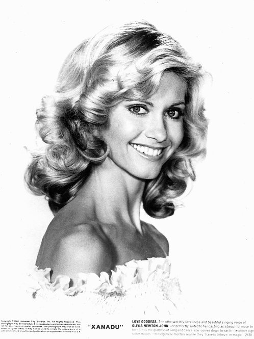 Headshot of Lovely Olivia Newton-John in Xanadu