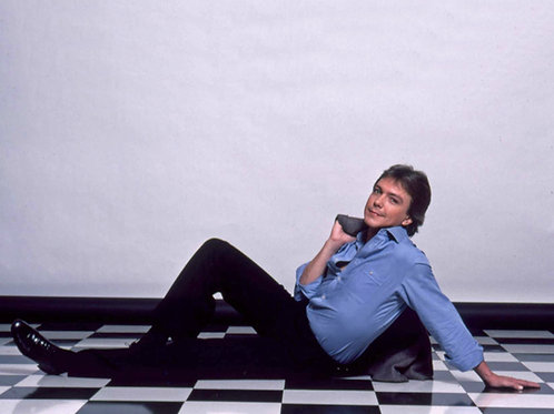David Cassidy in the Early 80's Laying on a Checkered Floor