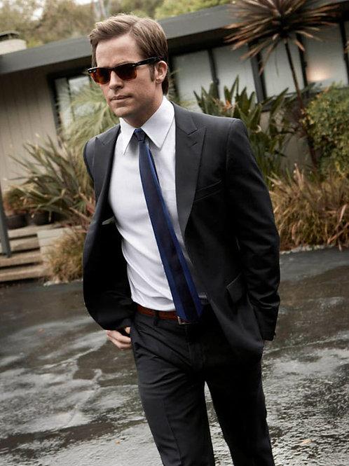 Chris Pine in a Black Suit