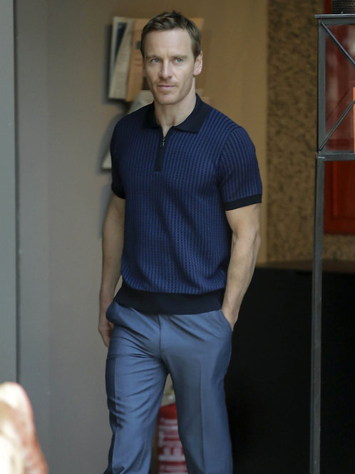 Michael Fassbender with a Very Impressive Bulge in Tight Dress Slacks