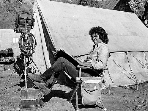 Michael Landon on the Set of Little House on the Prarie
