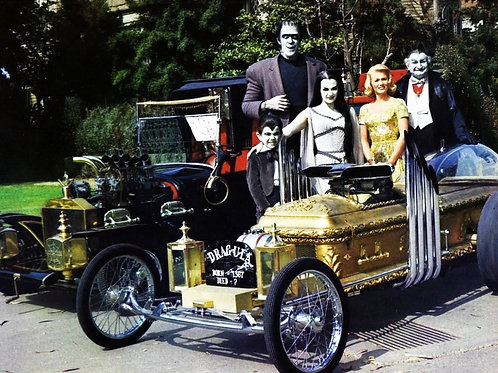 The TV Munsters with the Munster Coach & the Dragula