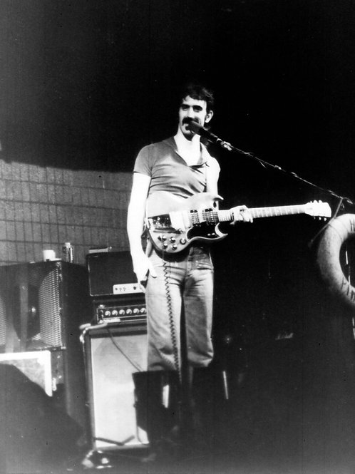 Frank Zappa with his Guitar on Stage