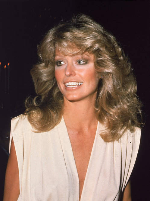 Beautiful Farrah Fawcett Sporting Her Charlies Angels Hairdo