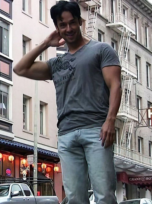 Hot Looking Guy Freeballin' in Jeans