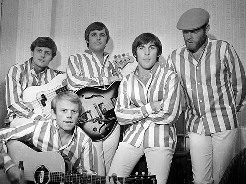 The Beach Boys Wearing White Pants & Striped Shirts