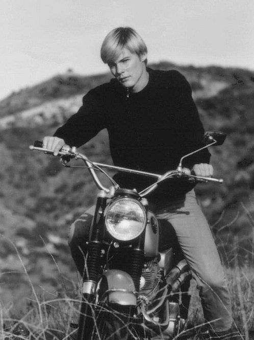 Young Jan-Michael Vincent on a Motorcycle
