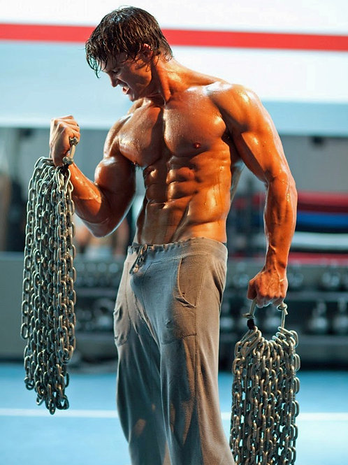 Greg Plitt Bulging as he Lifts Heavy Chains