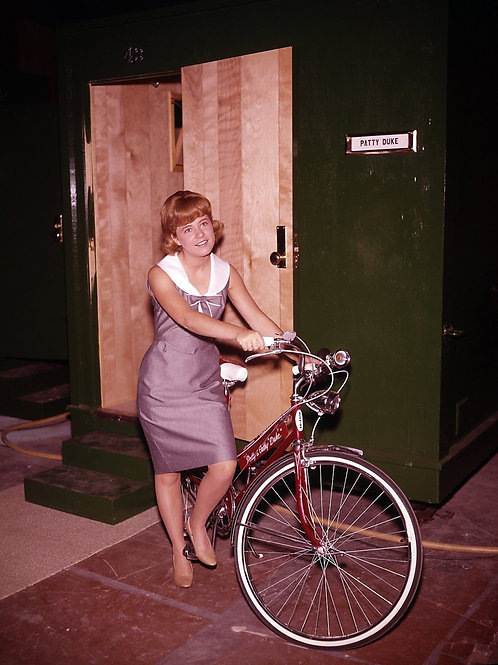 Young Patty Duke by Her Dressing Room