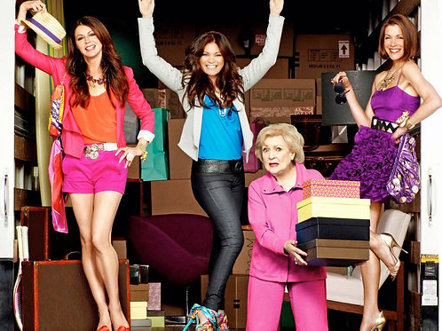Beautiful Cast From Hot in Cleveland Unloading a Truck