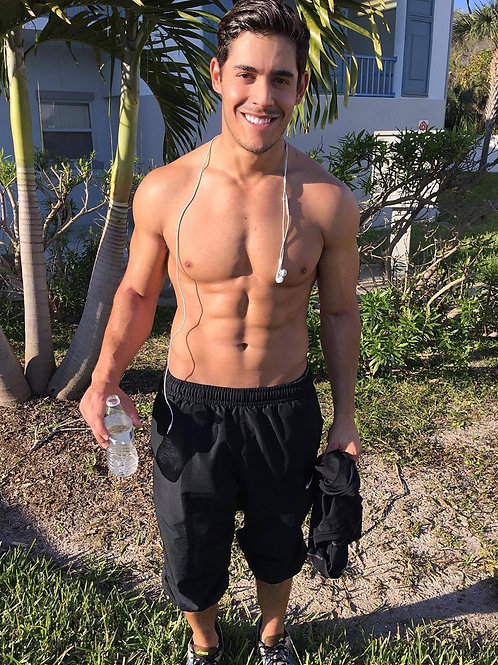 Ripped Guy Heading to the Beach