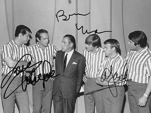 Beach Boys Posing with Ed Sullivan