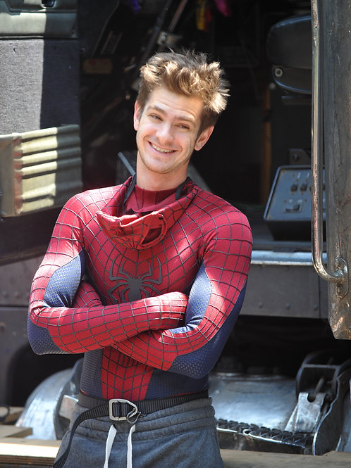 Andrew Garfield Taking a Break While Filming Spiderman