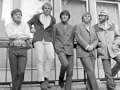 The Beach Boys Outside a Building