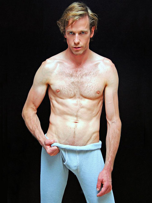 Shirtless Man in his Long Johns