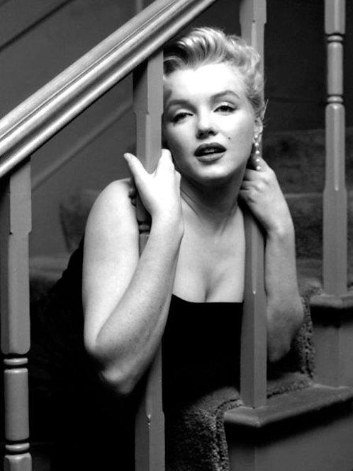 Marilyn Monroe Peering Thru Staircase Balisters
