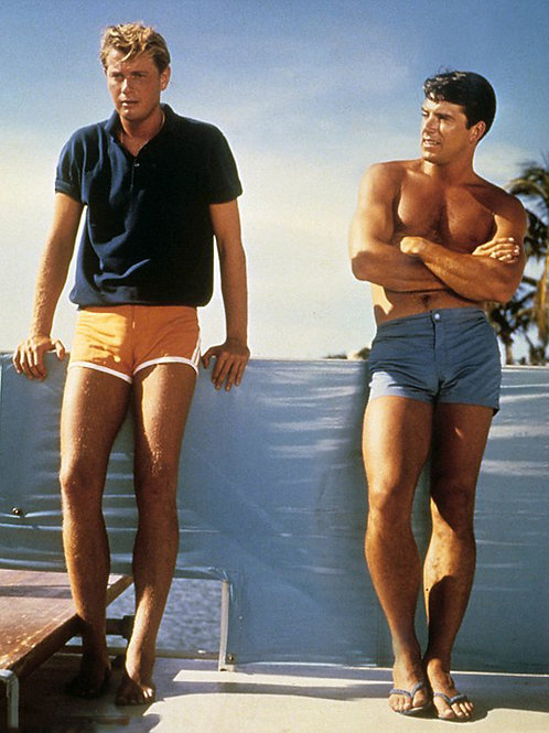 Van Williams & Troy Donahue at a Pool