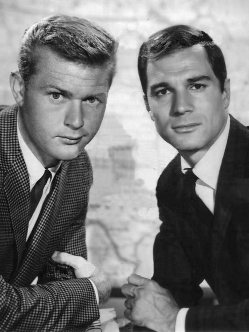 1961 Press Photo of George Maharis & Martin Milner for Route 66
