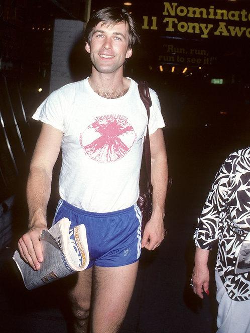 Young Alec Baldwin Wearing Shorts