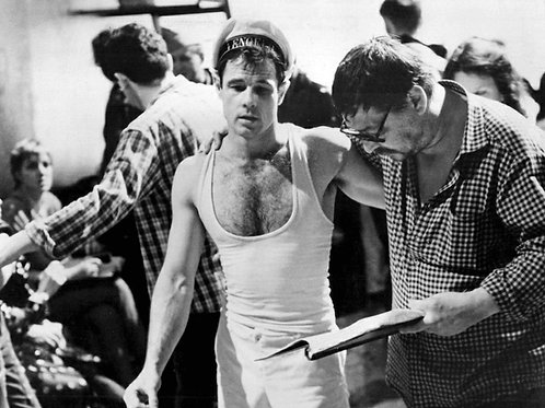 Brad Davis Talking with the Director for Querelle