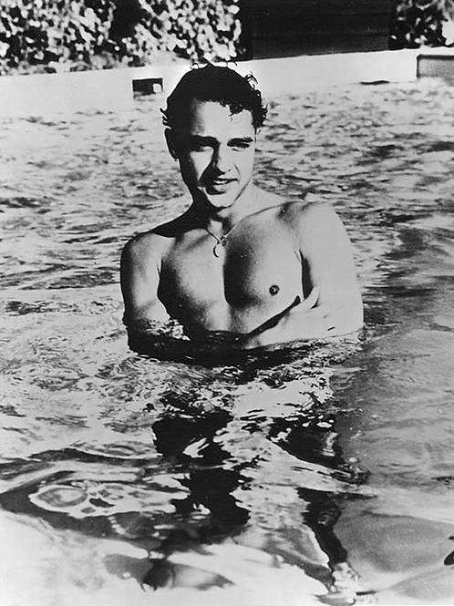Sal Mineo Waist Deep in a Pool