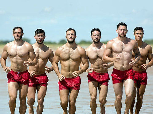 Men in Red Shorts