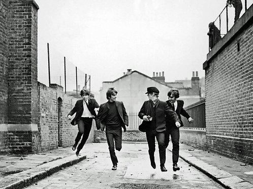 Beetles Running Down the Street  in a Hard Days Night