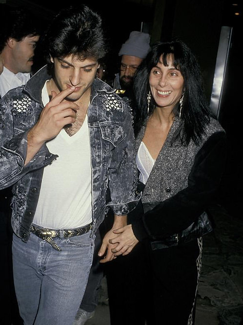 Rob Camilletti with Cher in the 1980s