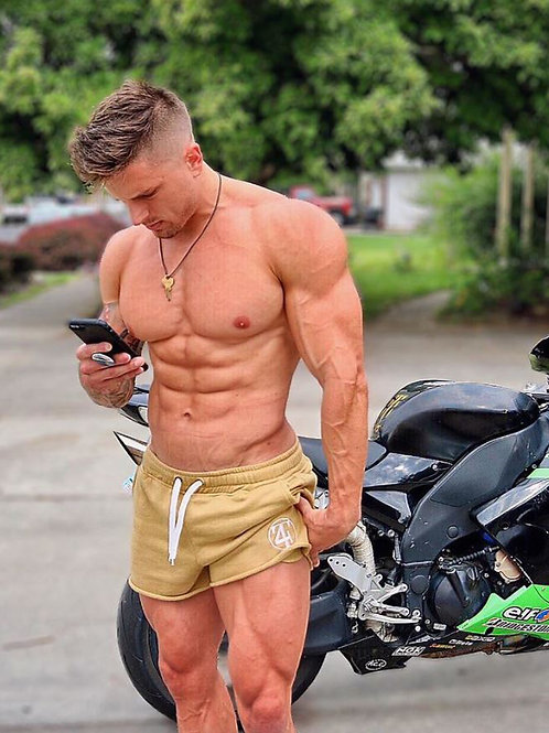 Ryan Harmon by his Sport Bike