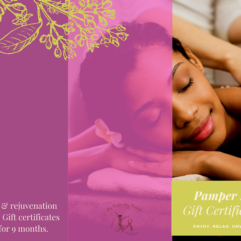 Pamper Me Fundraiser  - SPA Gifts