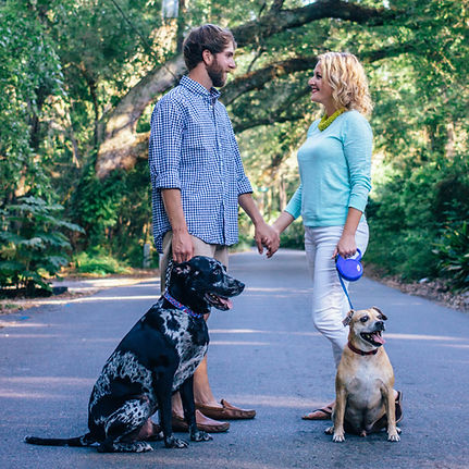 Casa Verde Vacation Rental | Gulfport, MS Owner Liz Sekul with husband, Chase, and beloved pets.