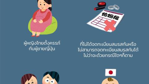 """""""หญิงไทยที่ตั้งครรภ์กับคนญี่ปุ่น โดยไม่ได้จดทะเบียนสมรสกัน จะต้องทำอย่างไรบ้าง?"""""""