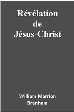 REVELATION DE JESUS-CHRIST