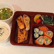 165. Salmon Brisket Bento Set